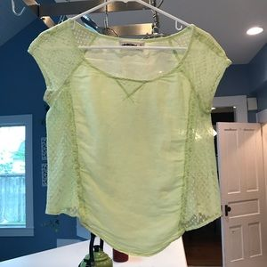 Abercrombie & Fitch light green lacy top
